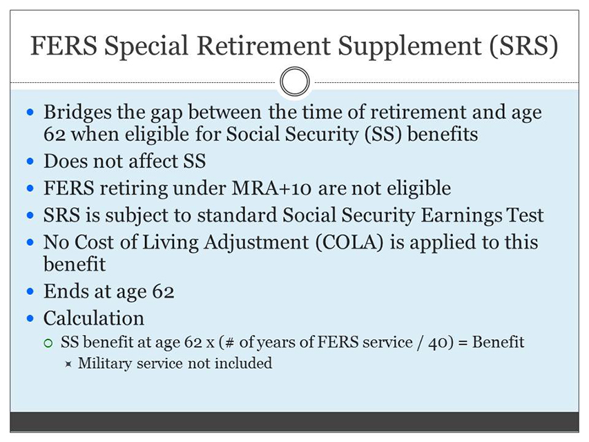 Retirement Benefits Institute - FERS